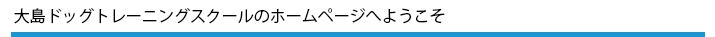 大島ドッグトレーニングスクールのホームページへようこそ